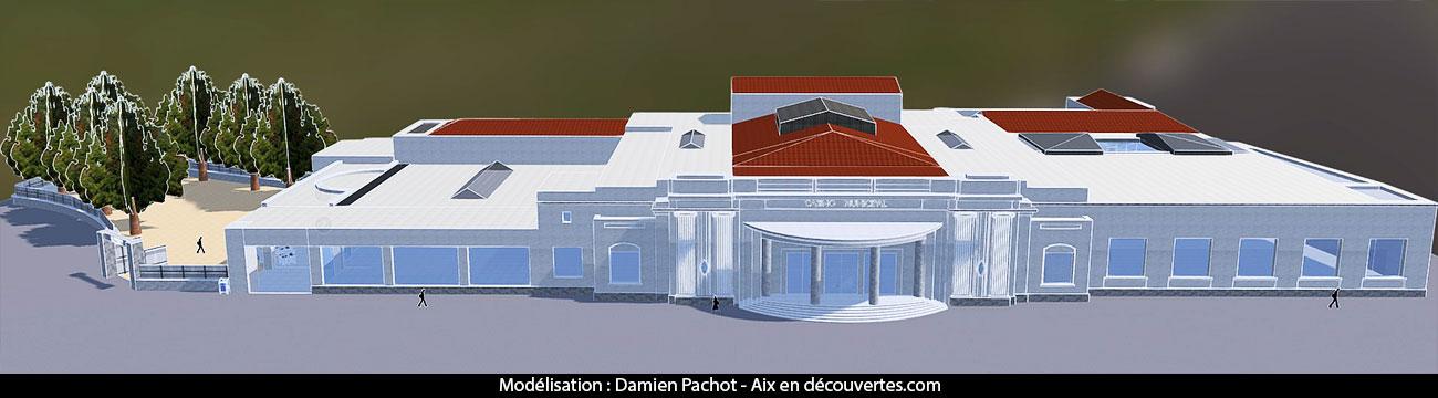 Une vue générale du Casino; du restaurant et du parc
