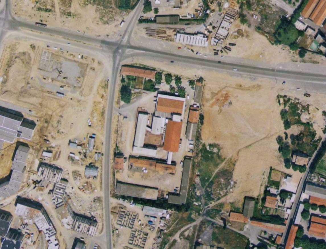 Les abattoirs dans le quartier d'Encagnane en 1970