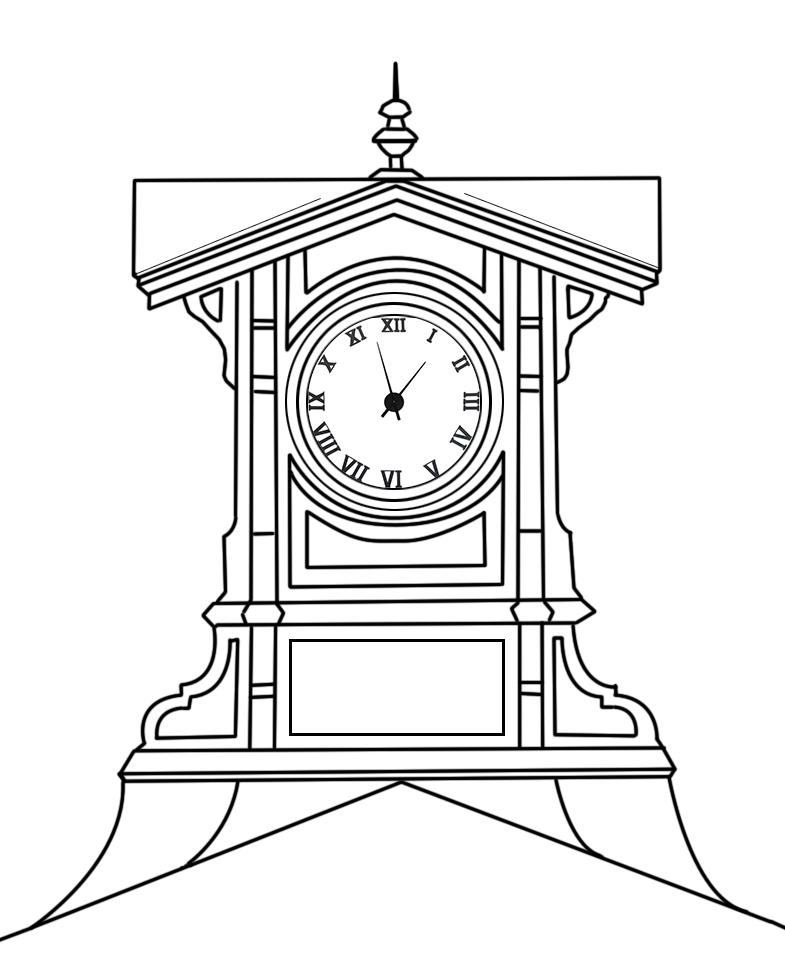 L'ancienne horloge de l'ancienne gare de la ville