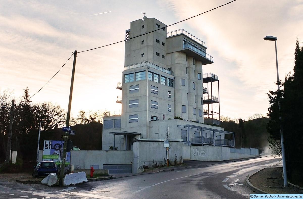 Le silo en janvier 2016 - Photo : © Aix en découvertes