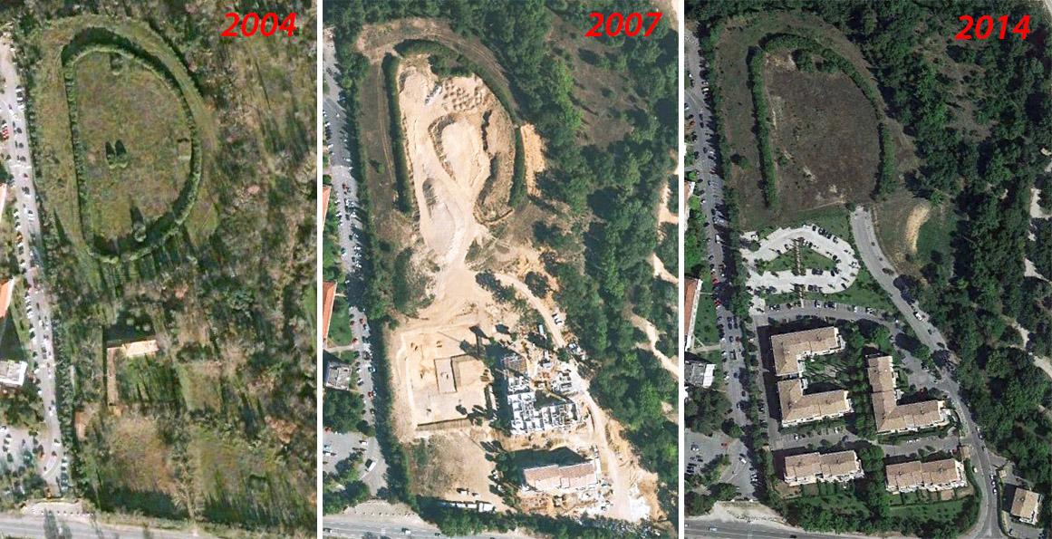 L'évolution de la zone où fut bâtie la résidence du Parc de l'hippodrome - Photos: Google Earth