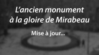 L'ancien monument à la gloire de Mirabeau (m.a.j.)