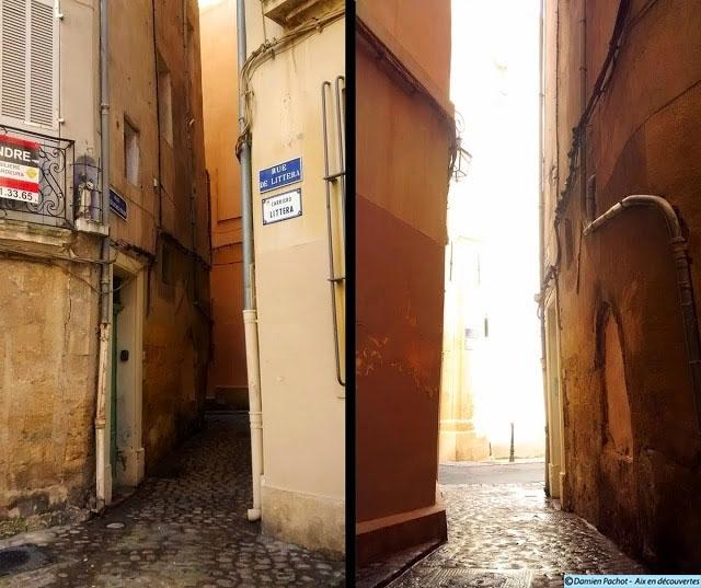 La rue Esquicho-Coude et ses murs très rapprochés