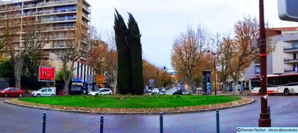 L'entrée de l'avenue des Belges de nos jours.