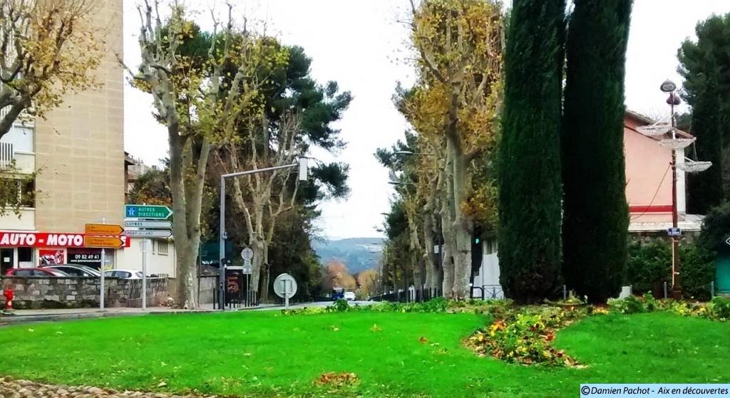 L'avenue Pierre Brossolettte. Les déblais issus de son percement ont permis de créer l'actuelle avenue des Belges.