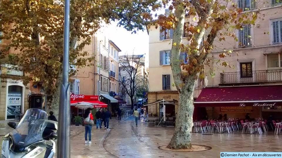L'entrée de la rue Espariat, près de là ou se trouvait l'ancienne Porte Royale. Photo : © Aix en découvertes