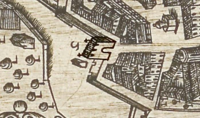 La porte vers 1623 - Maretz