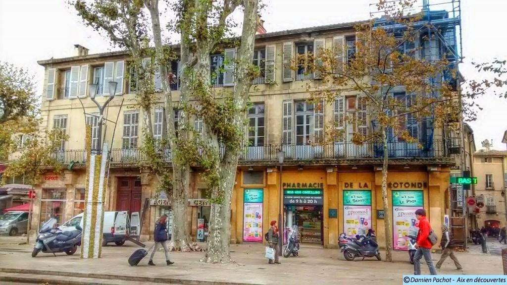 L'ancien Hôtel des Princes ou des Quatre-Nations, sur le cours Mirabeau