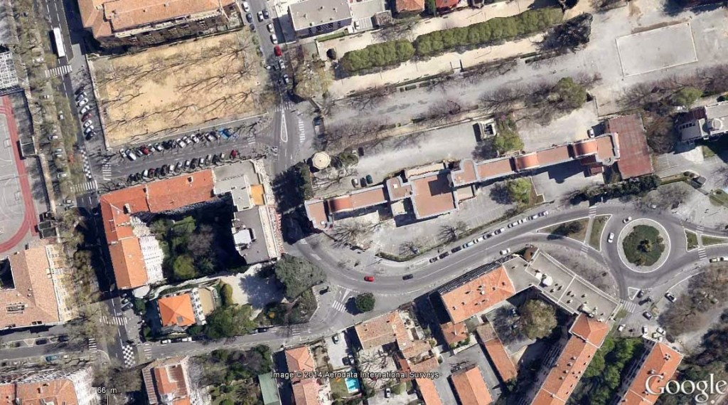 L'ancienne cité universitaire Benjamin Abram, là où se situaient les anciens abattoirs Photo: Google Maps