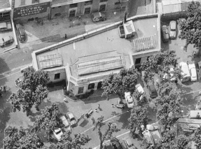 L'ancien Pavillon du Tourisme dans les années 60. (Face avant) Photo: © IGN-GEOPORTAIL/1964