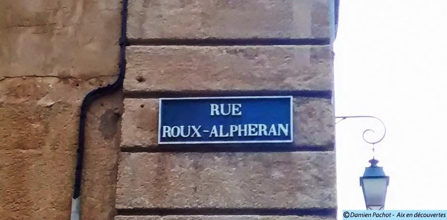 Le panneau de l'ancienne rue Longue Saint-Jean, aujourd'hui rue Roux-Alphéran Photo: © Aix en découvertes