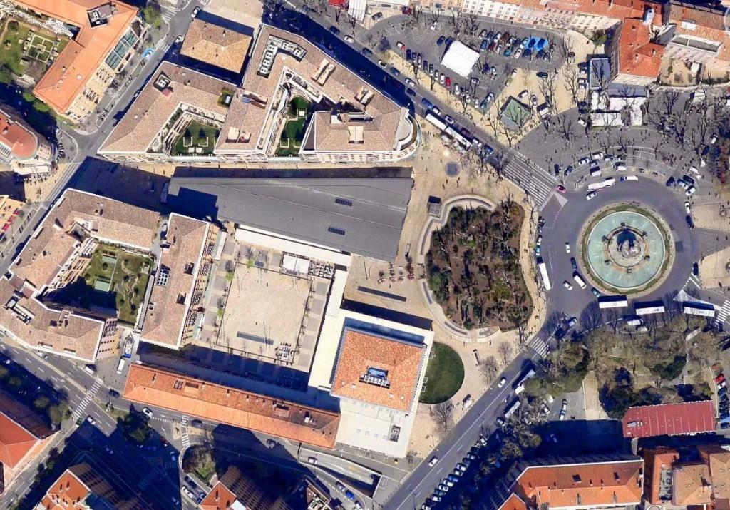 L'actuelle zone accueillant aujourd'hui les Allées Provençales Photo: Google Maps