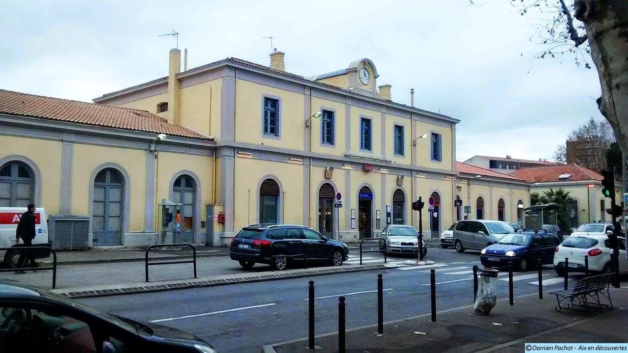 La nouvelle gare de voyageurs d'Aix crée en 1877 Photo: © Aix en découvertes