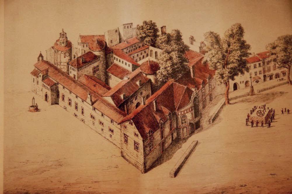 Représentation du Palais Comtal au XVIIIe siècle