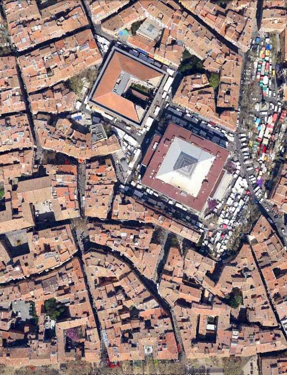 Vue aérienne du quartier du palais de justice Photo: Google Maps
