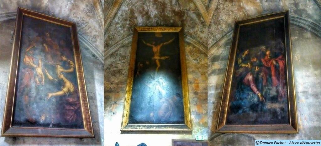 Ces trois tableaux ce trouvaient dans la grande Chambre du Parlement de l'ancien Palais des Comtes de Provence Photo: © Aix en découvertes
