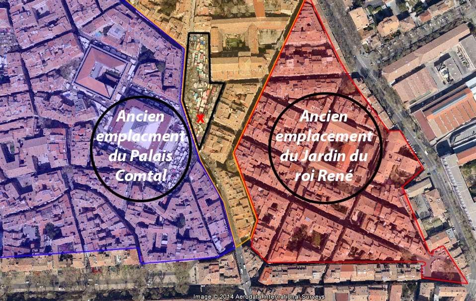 Les agrandissements de la ville aux XIVe, XVe et XVIe siècle Photo: Google Maps