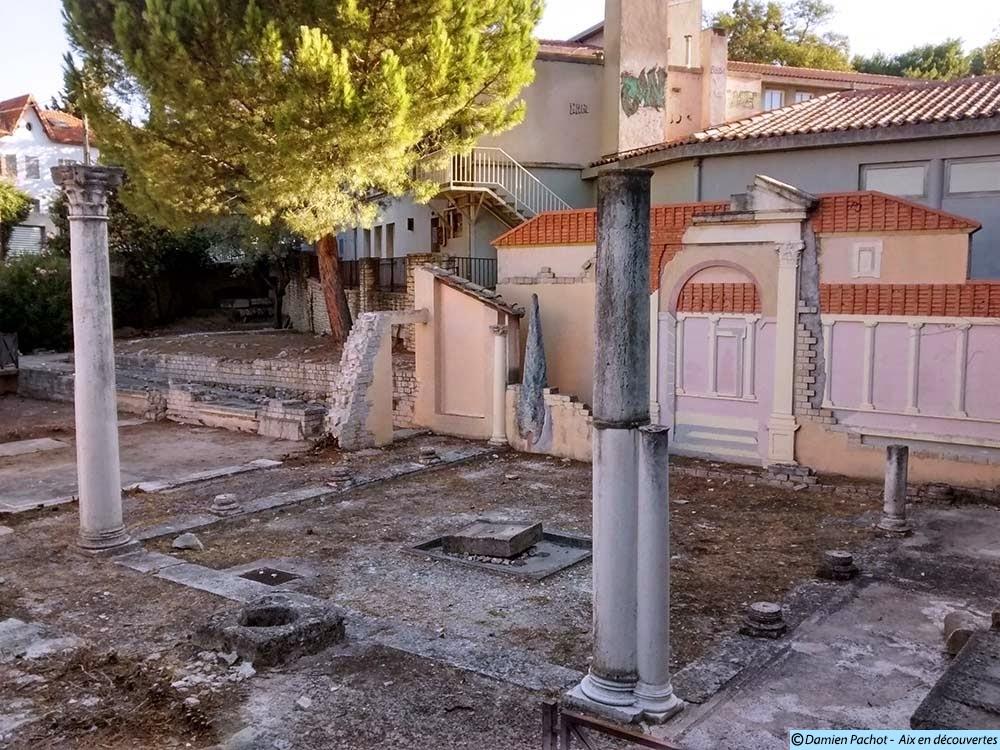 Les vestiges du jardin de Grassi en 2014