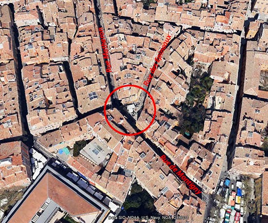 La place des trois ormeaux de nos jours Photo: Google Maps