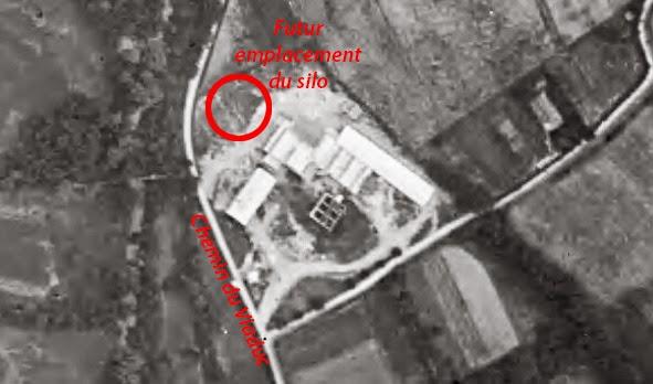 Le futur emplacement du silo vers 1930 peu d'années avant sa construction Photo: © IGN-GEOPORTAIL/1930Le futur emplacement du silo vers 1930 peu d'années avant sa construction Photo: © IGN-GEOPORTAIL/1930