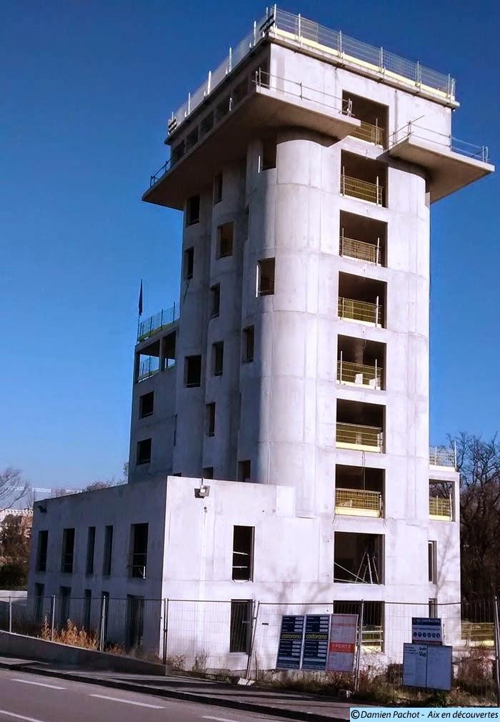 """L'arrière du """"nouveau"""" silo en Janvier 2015"""