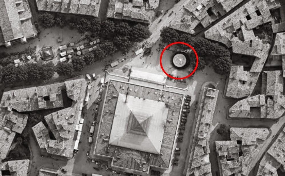 L'emplacement du monument en 1930 sur la place Verdun. Photo: © IGN-GEOPORTAIL/1930