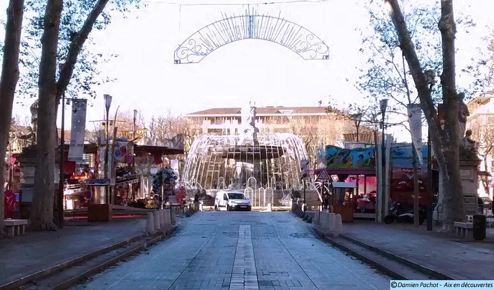 L'ancien emplacement de la fontaine des Chevaux Marins de nos jours