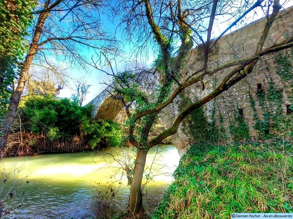Le Pont des Trois-Sautets vu de la berge sud-ouest