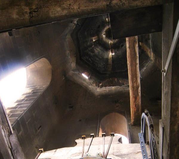 L'intérieur du clocher Photo: Collection particulière