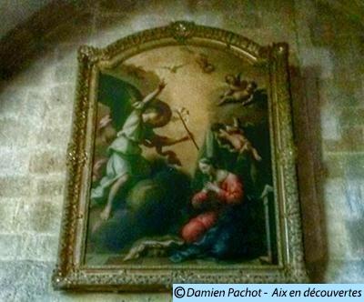 Ce tableau se trouvait dans l'unes des chapelles du Palais des Comtes de Provence