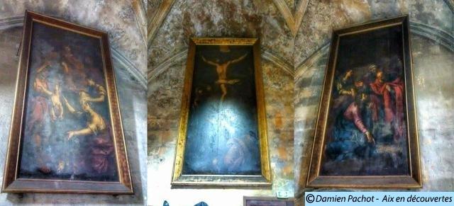 Ces trois tableaux se trouvaient dans la grande Chambre du Parlement de l'ancien Palais des Comtes de Provence