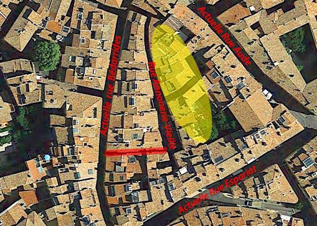 L'emplacement probable des anciens greniers publics qui ont donné leur nom à la rue Annonerie-Vieille