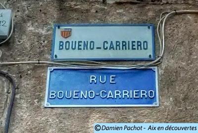 Les panneaux en français et provençal à l'entrée de la rue