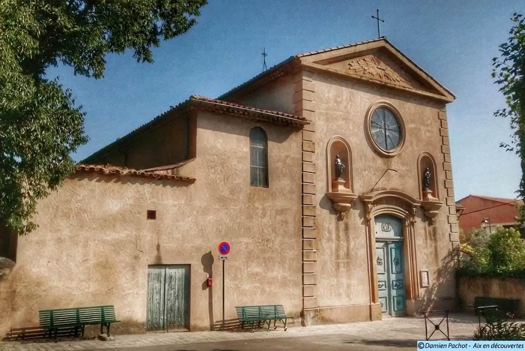 La façade de l'église des Milles désormais restaurée