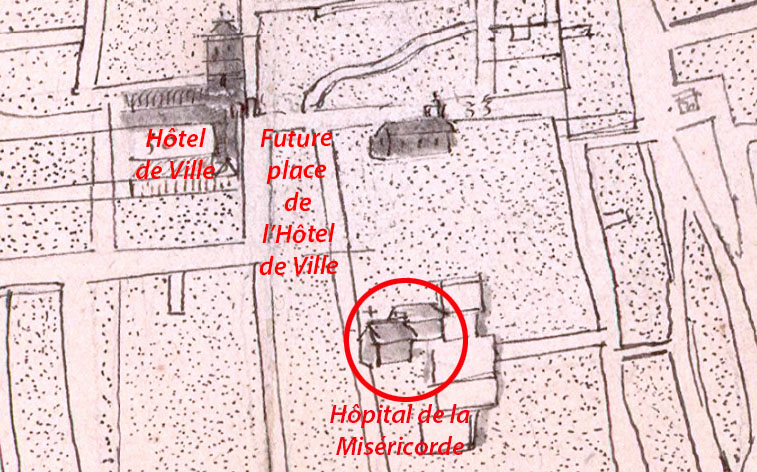 Rue donalari 1666 emplacment de l'hôpital de la Miréricorde