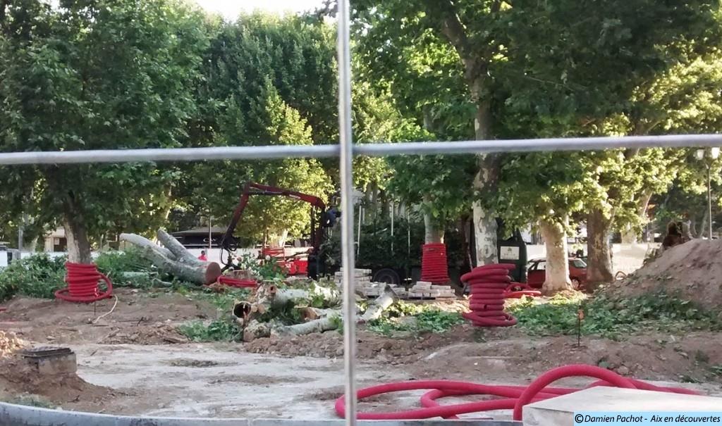 Le 10 juillet quelques platanes ont été abattus