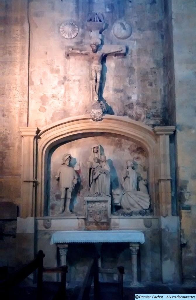 L'autel des Aygosi de 1470 provient lui aussi de l'ancienne église des Carmes