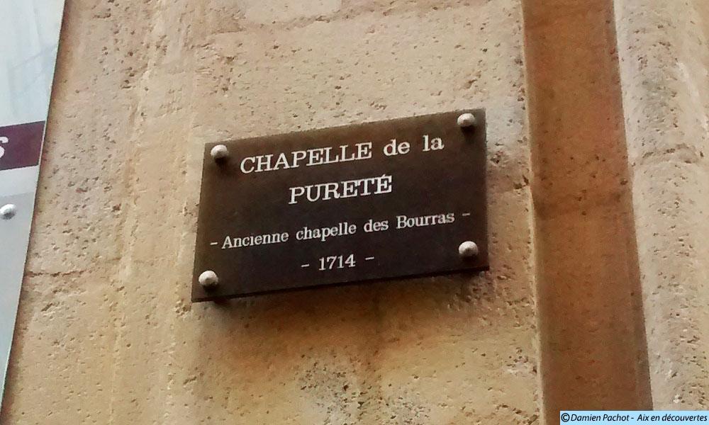 Selon ce panneau, la chapelle aurait été fondée en 1714 - Photo: © Aix en découvertes