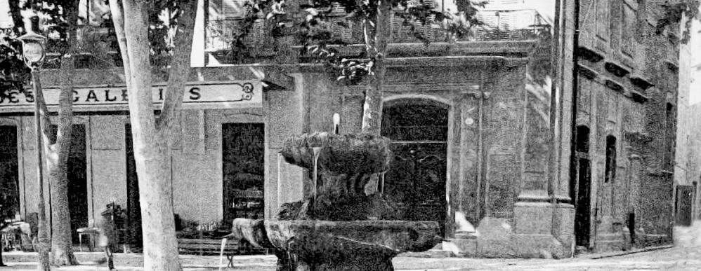 La façade de l'hôtel d'Estienne d'Orves avant sa modification - Détail d'une carte postale ancienne