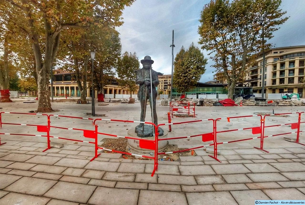 """La statue de Paul Cézanne désormais """"dégagée"""""""
