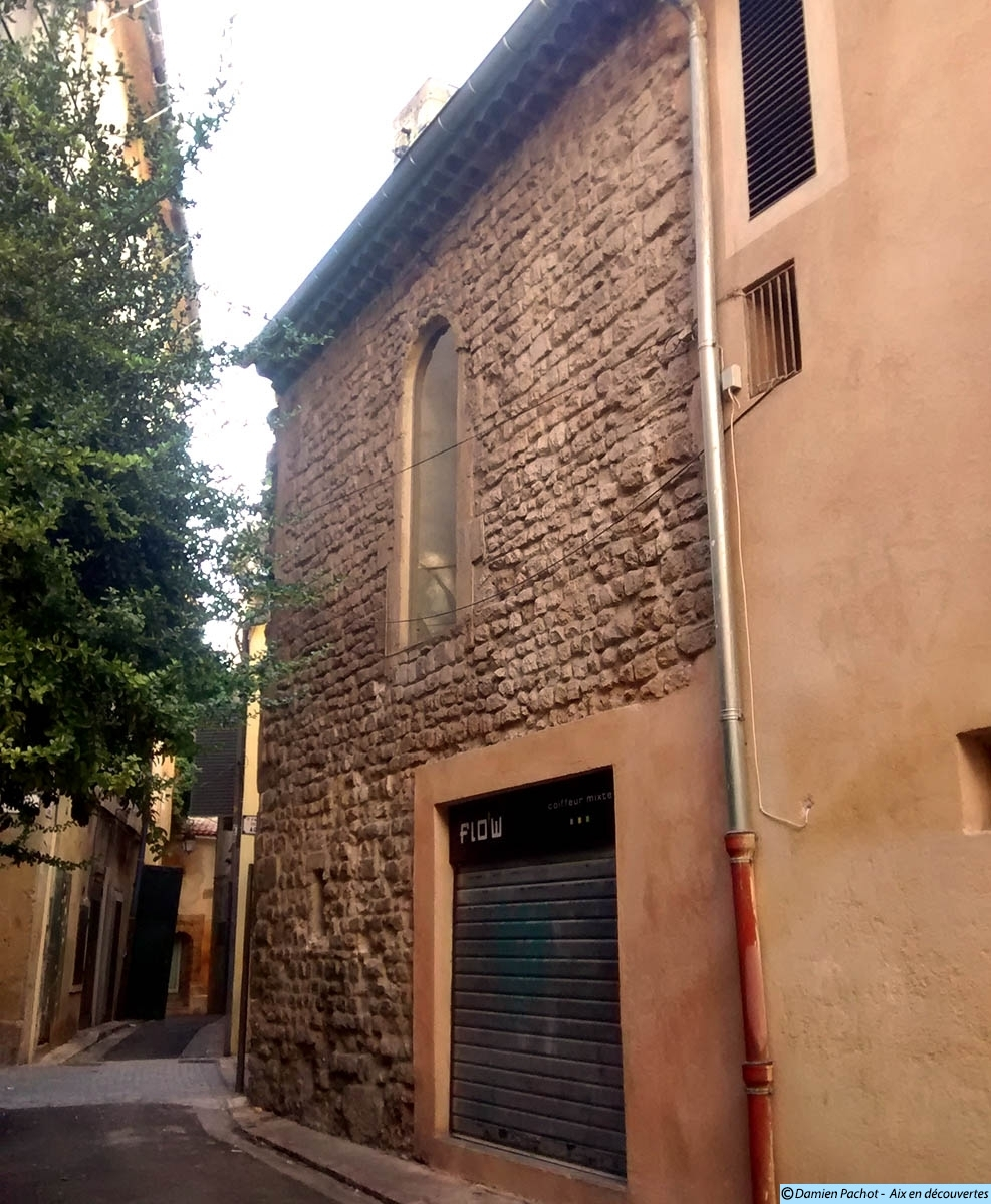 Une partie d'un mur de l'église des Carmes est encore visible dans la petite rue des Carmes