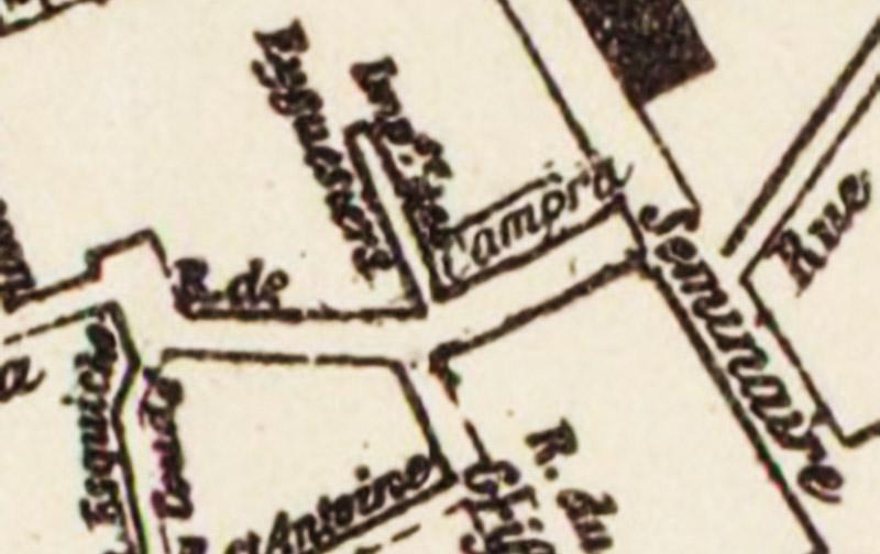 La rue porte désormais le nom d' André Campra - Plan : Makaire / B.N.F.