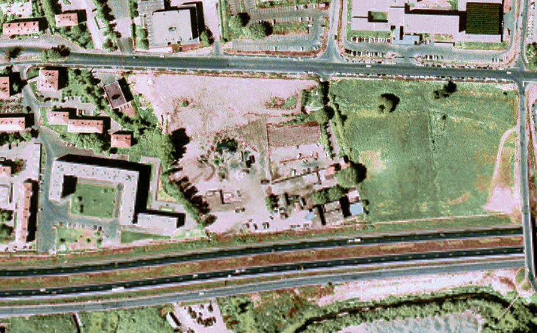 Le site de l'ancienne usine d'épuration en 1975