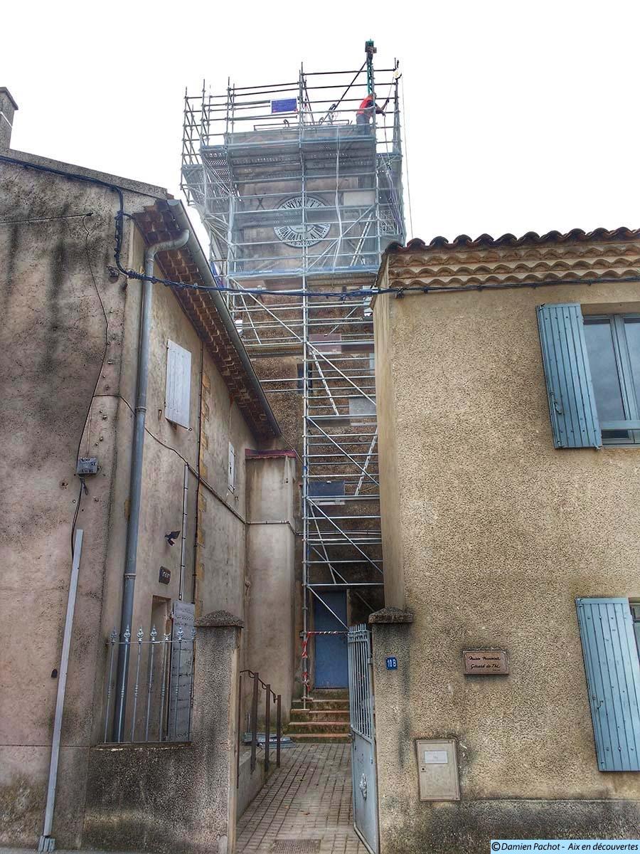 1 travaux-clocher-église-les-milles2