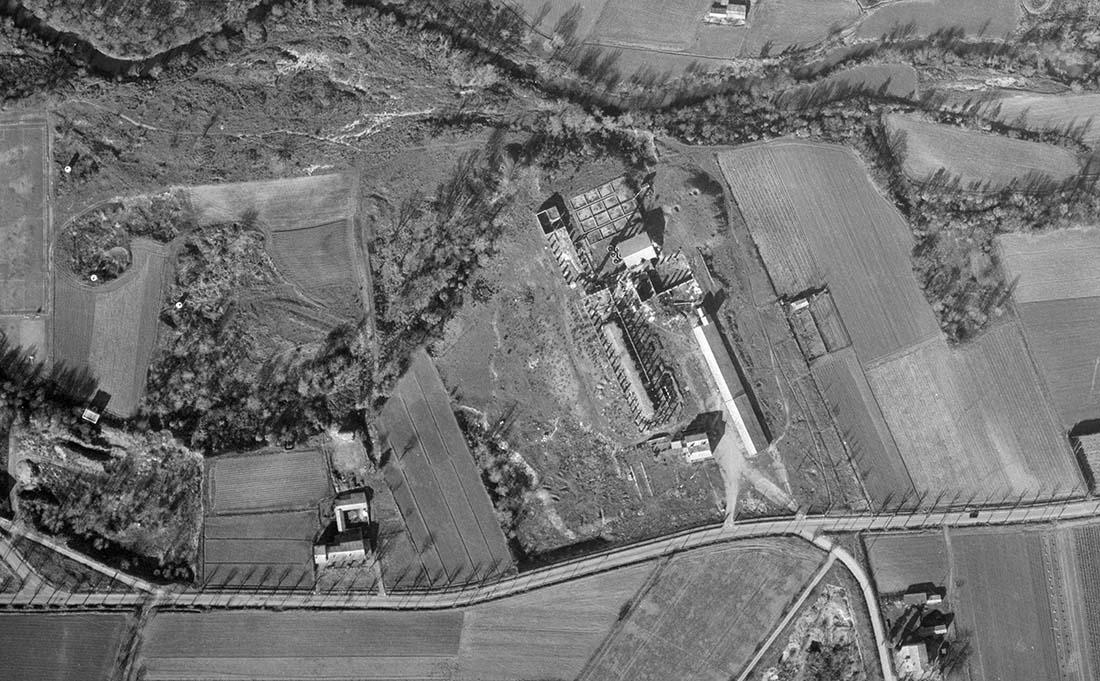Les restes de la petite usine en 1955 - Photo : © IGN GEOPORTAIL 1955