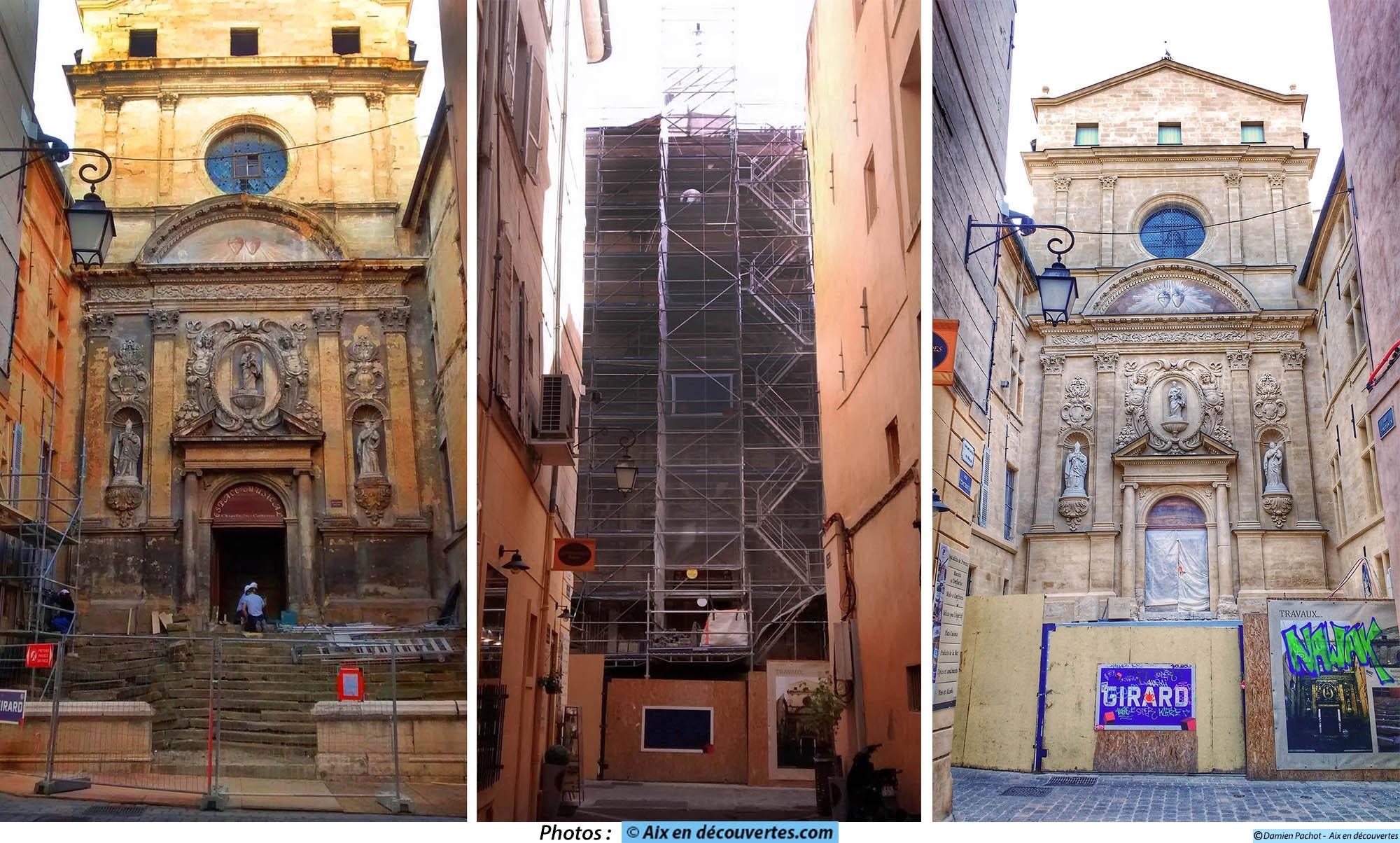 La rénovation de la façade de la chapelle de la Visitation d'avril 2015 à avril 2016