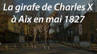 La girafe de Charles X à Aix en mai 1827