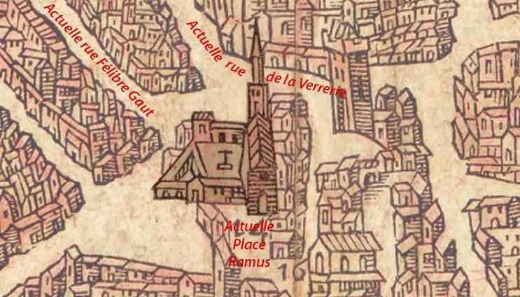 L'église de l'Annonciade au XVIe siècle - Belleforest - 1575 - © BNF / Gallica