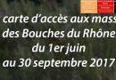 La carte d'accès aux massifs des Bouches-du-Rhône pour cet été