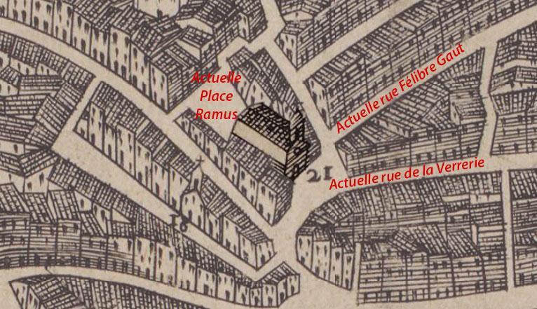 L'église de l'Annonciade vers le XVIIe siècle - Maretz - 1623 - © BNF / Gallica
